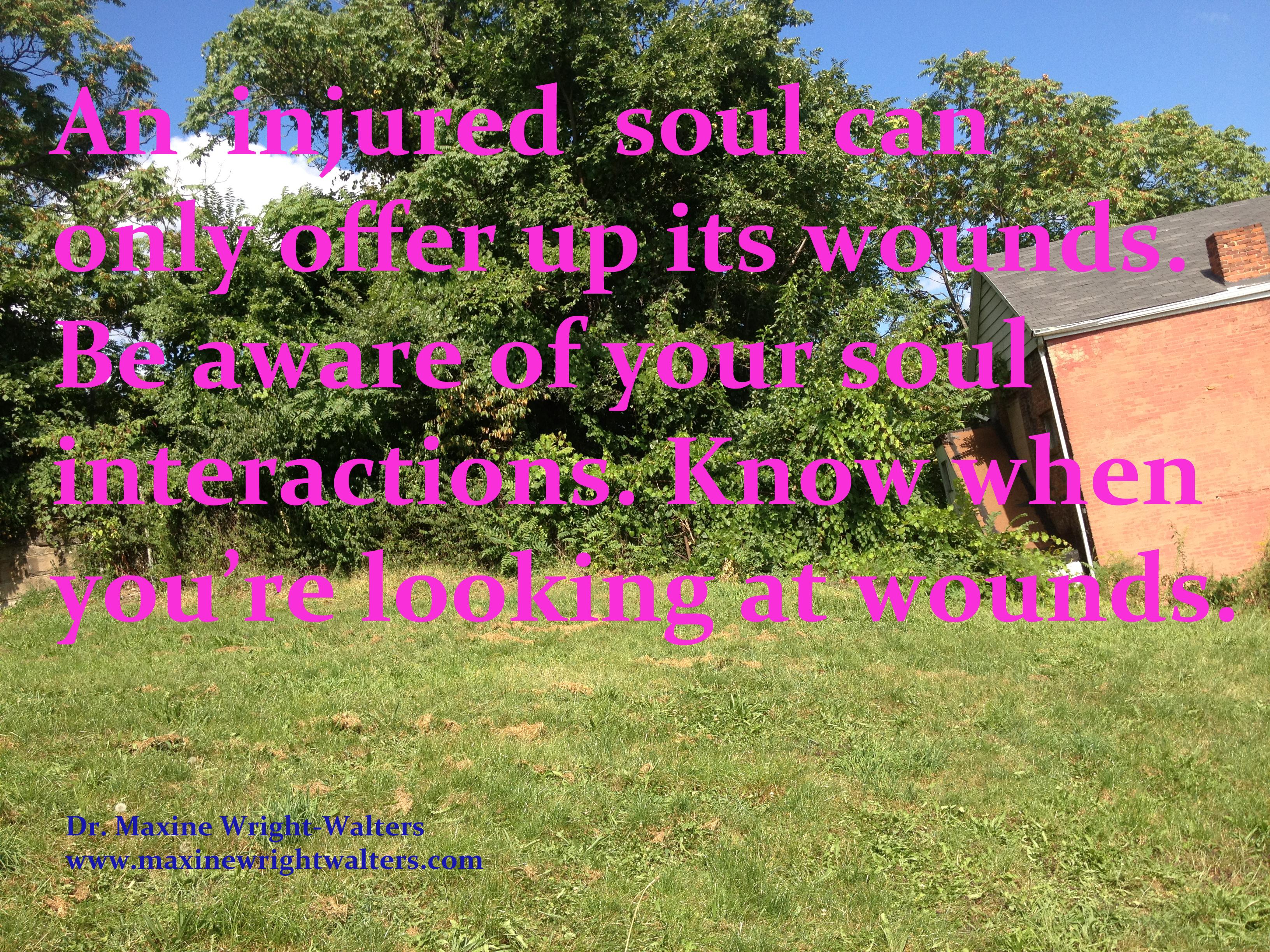 An injured soul