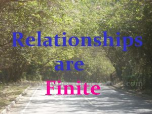 relationships are finite